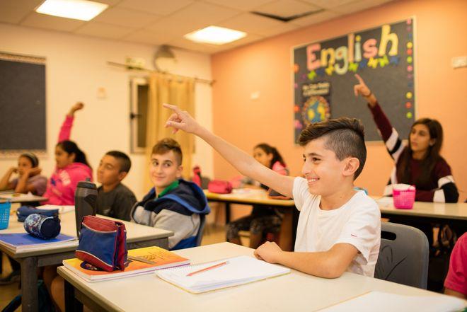 Unterricht in der Hand in Hand Schule in Ost-Jerusalem. Hier lernen Arabische Israelis/Palaestinenser gemeinsam mit Juden. (c) 2016 Kathrin Harms