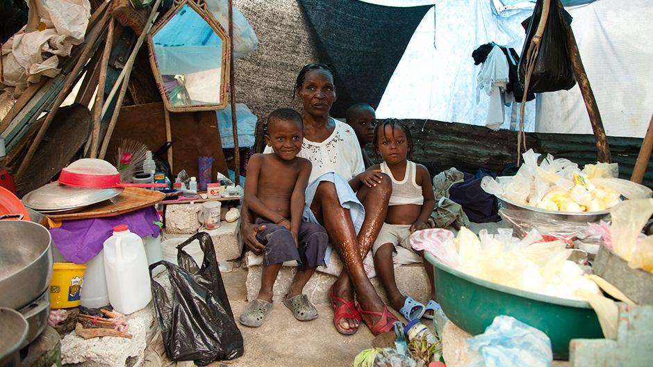 Kinder im Flüchlingslager der Schule Ecole P. Basile Moreau