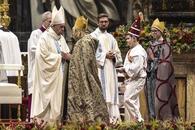 Roma 01-01-2020 Papa Francesco, celebra la Santa Messa nel primo giorno dell' anno Ph: Cristian Gennari/Siciliani