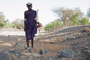 Turkana Mann, Turkana, Kenia, 2/2016