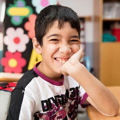 Samir besucht die LIFEGATE-Förderschule in Bait Jalla (Bethlehem).