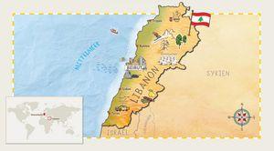 Eine Karte vom Libanon