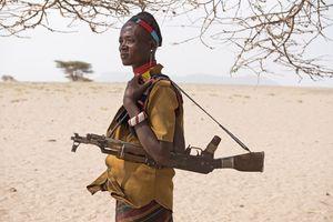 Viehirt vom Marille-Stammes im Grenzgebiet zwischen Kenia und Äthiopien, 2/2016