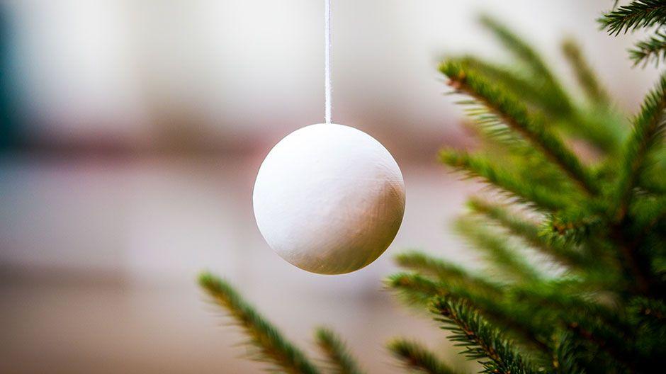 Weihnachten Weltweit - faire Weihnachtsbaumkugeln zum Selbstgestalten