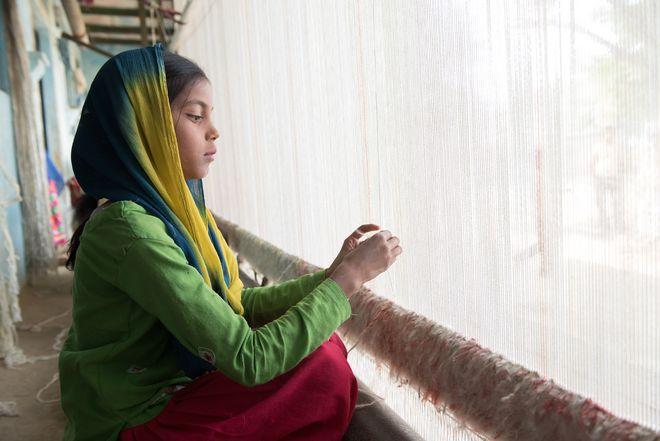 Sangam, am Webrahmen, Harrai Gadhi, Indien