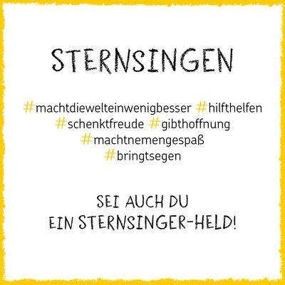 Motvationsgrafik #Sternsinger
