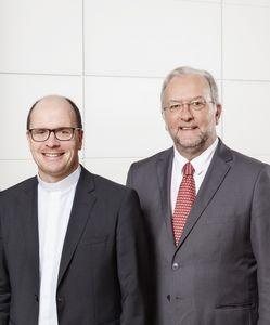 Die Vorstandsmitglieder: Dr. Gotthard Kleine (links), Pfarrer Dirk Bingener (Mitte) und Dr. Franz Marcus (rechts)