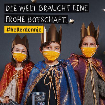 Ein Werbe-Banner der Aktion Dreikönigssingen 2021